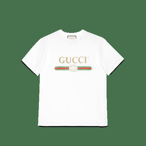Gucci标识印花超大造型T恤