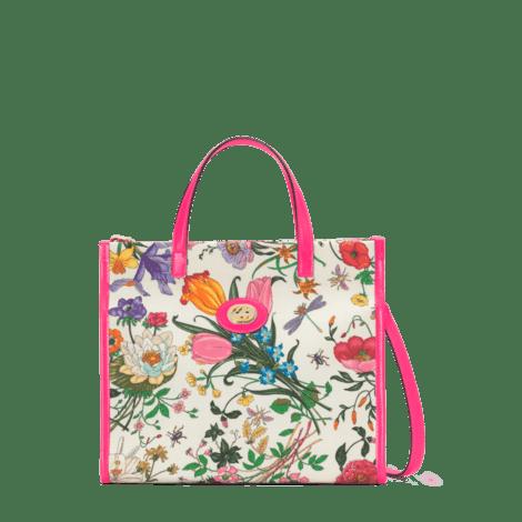 花卉印花中号购物袋