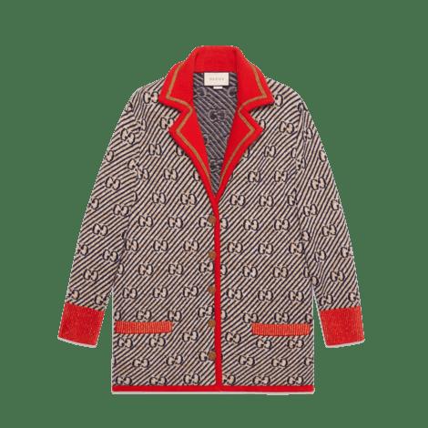 GG条纹羊毛夹克
