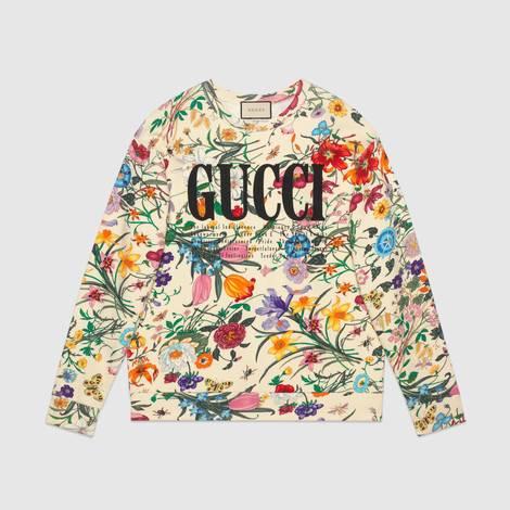 Gucci印花超大造型卫衣