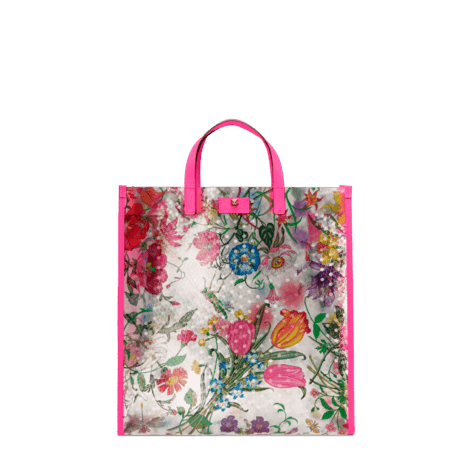 花卉印花乙烯基织物购物袋