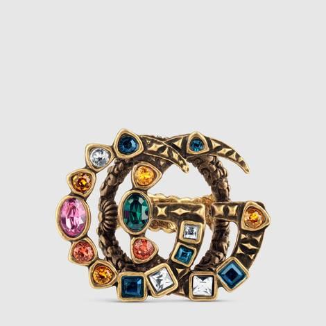 水晶双G戒指