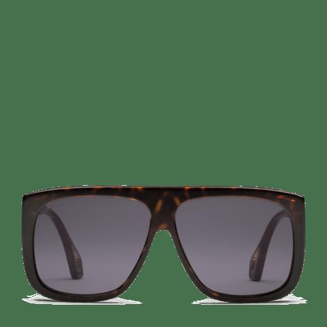 侧翼防护型方形镜框太阳眼镜