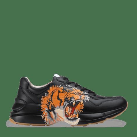 Rhyton系列饰老虎图案皮革运动鞋