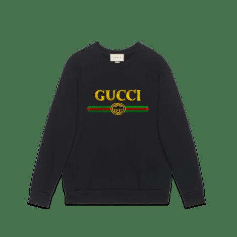 饰Gucci标识超大造型卫衣