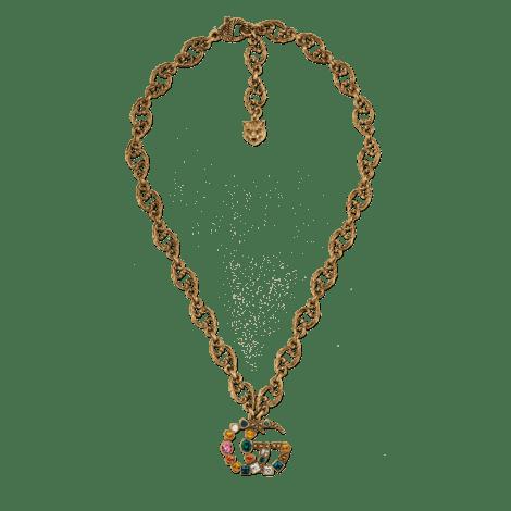 水晶双G项链