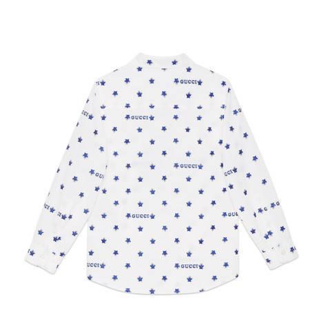 儿童Gucci星星切丝衬衫