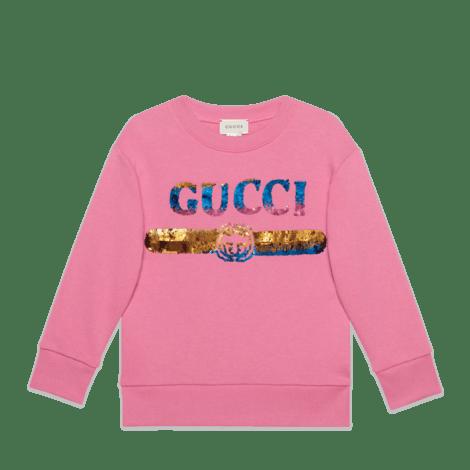 儿童亮片Gucci标识卫衣