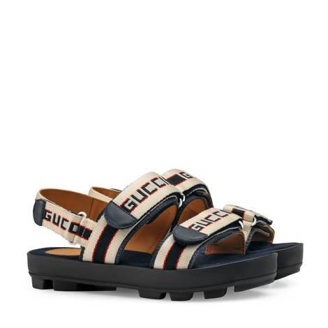 儿童Gucci条纹凉鞋