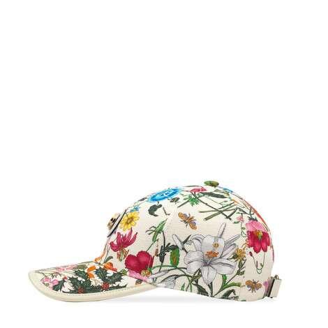 饰花卉印花棒球帽