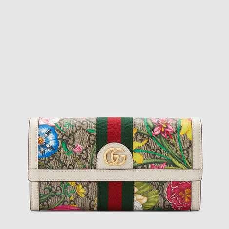 Ophidia系列GG花卉长款钱包