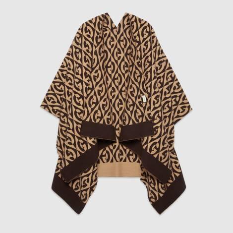 G 菱形棉毛混纺披巾