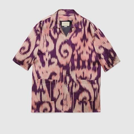 复古螺旋提花超大造型保龄球衫