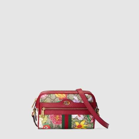 Ophidia系列GG花卉迷你手袋
