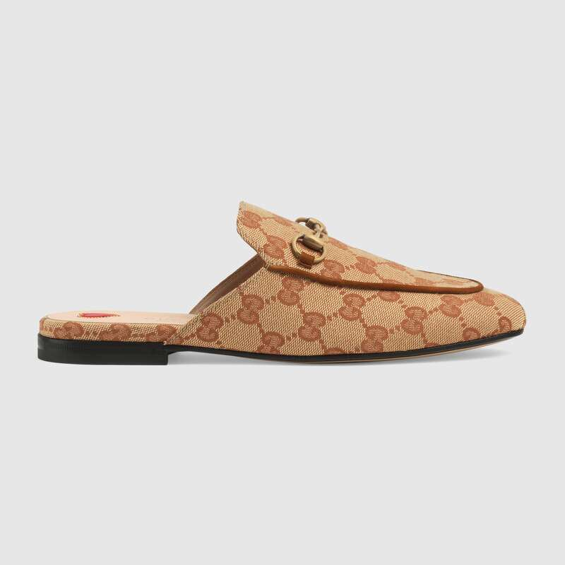 Gucci Slippers WOMEN'S PRINCETOWN GG CANVAS SLIPPER