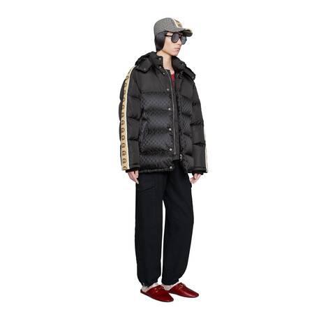 GG提花尼龙羽绒大衣
