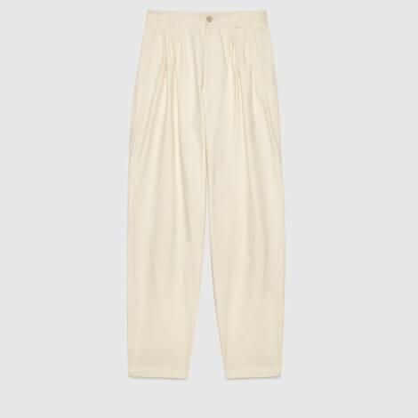 棉布高腰长裤