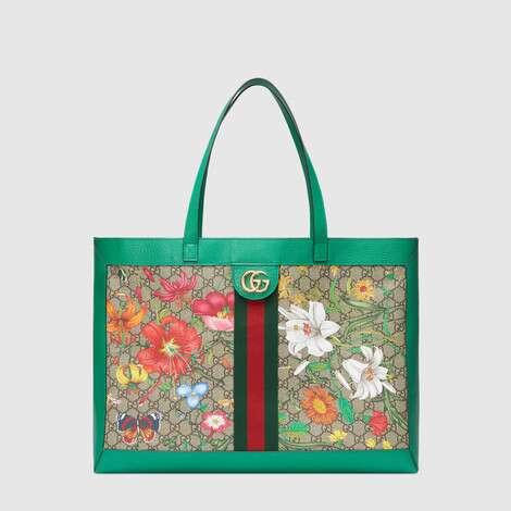 官网专享Ophidia系列GG花卉中号购物袋