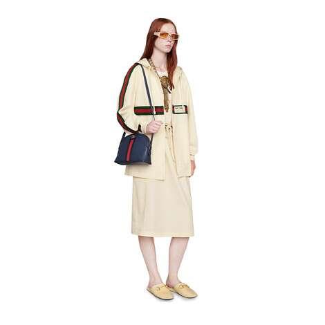 饰Gucci标签棉质半身裙