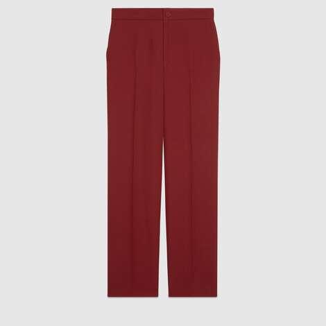 羊毛真丝混纺长裤