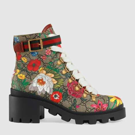 GG花卉踝靴