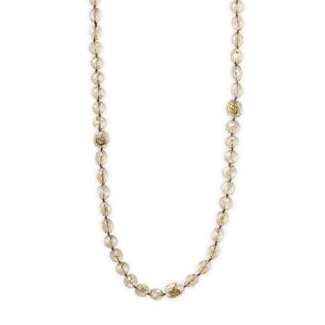 饰花卉细节珠串项链