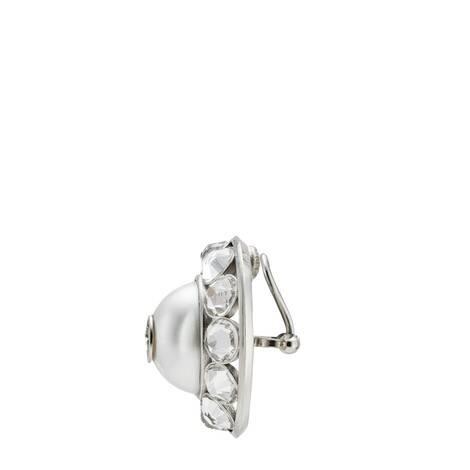 互扣式G珍珠和水晶耳环