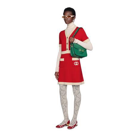 互扣式G羊毛连衣裙