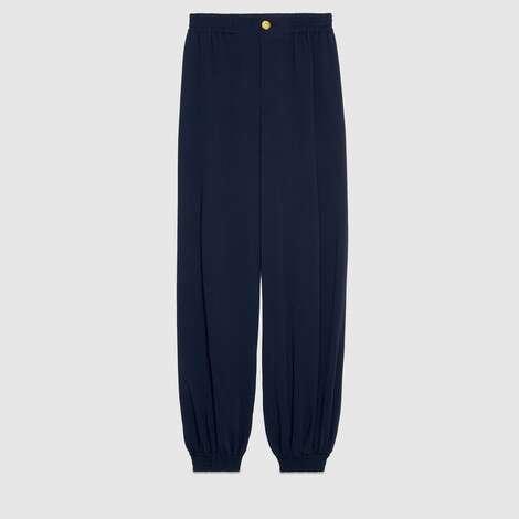 人造丝哈伦裤风格长裤