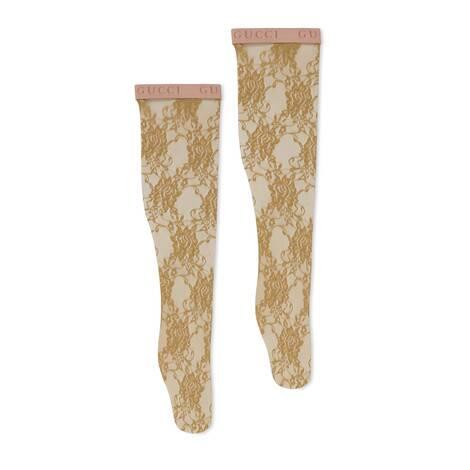 花卉蕾丝袜