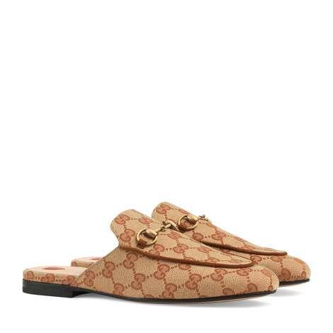 Princetown系列女士GG帆布拖鞋