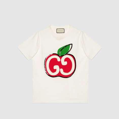 饰GG苹果印花T恤