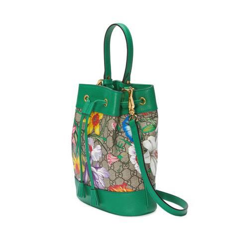 官网专享Ophidia系列GG花卉小号水桶包