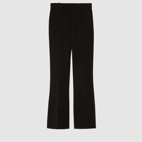羊毛喇叭裤