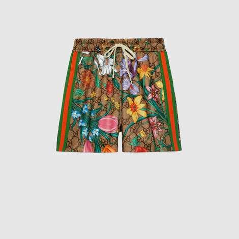 GG花卉印花短裤