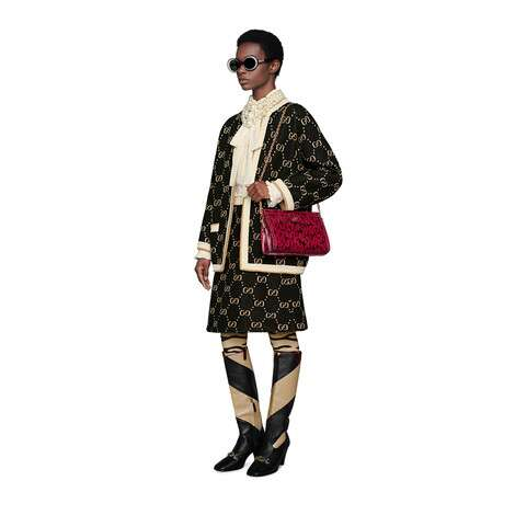 GG 羊毛针织半身裙
