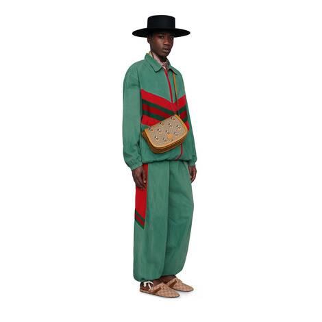 饰织带超大造型牛仔夹克