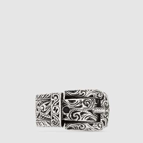 Gucci Garden系列纯银戒指