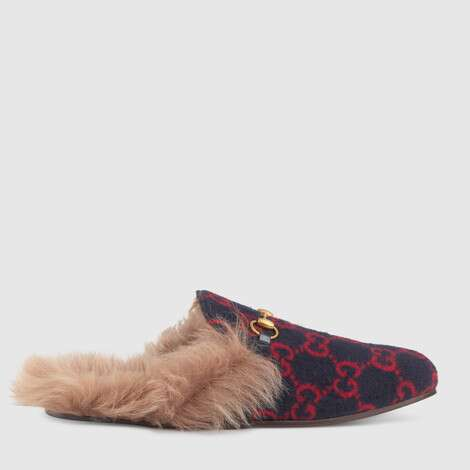 Princetown系列男士GG羊毛拖鞋
