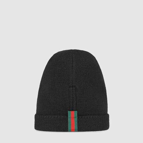 织带羊毛帽