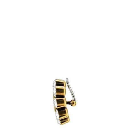 水晶双G耳环