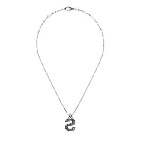 """字母""""S""""银项链"""