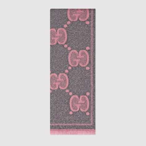 GG羊毛提花围巾