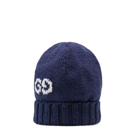 饰GG细节羊毛针织帽