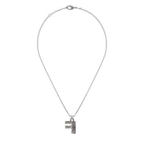 """字母""""F""""银项链"""
