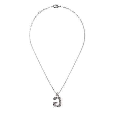 """字母""""G""""银项链"""