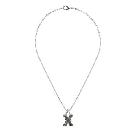 """字母""""X""""银项链"""