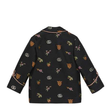 儿童标志性符号提花夹克