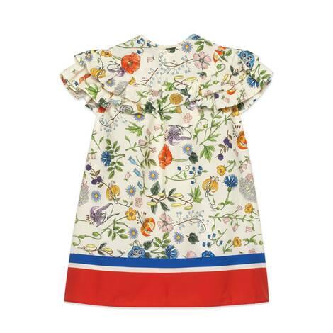 儿童花卉节日印花连衣裙