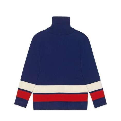 儿童互扣式G饰带羊毛开衫